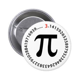 Diseño del número del pi pin redondo de 2 pulgadas
