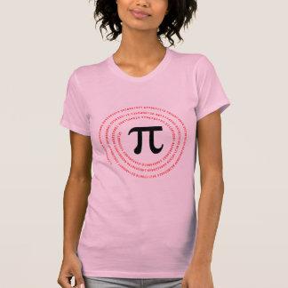 Diseño del número del pi tshirt