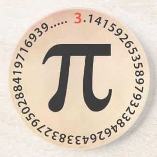 Diseño del número del pi posavasos diseño