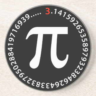 Diseño del número del pi posavasos para bebidas