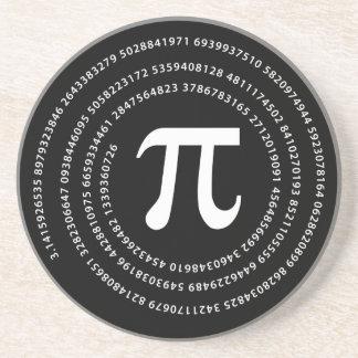 Diseño del número del pi posavasos personalizados
