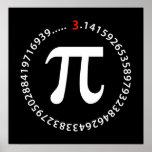 Diseño del número del pi posters