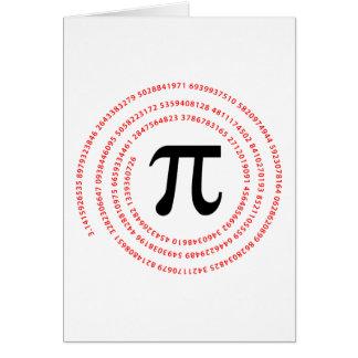 Diseño del número del pi felicitación