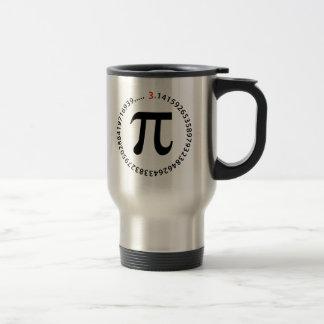 Diseño del número del pi tazas de café