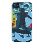 Diseño del océano de la playa del tipo fresco de l Case-Mate iPhone 4 fundas