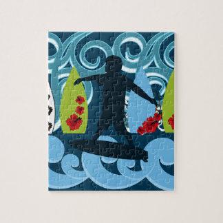 Diseño del océano de la playa del tipo fresco de l puzzles