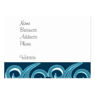 Diseño del océano de la playa del tipo fresco de tarjetas de visita grandes