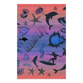 Diseño del océano papeleria de diseño