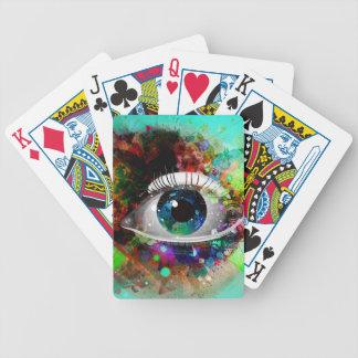 Diseño del ojo del arte abstracto de la diversión baraja de cartas