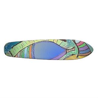 Diseño del ojo del monopatín tablas de patinar