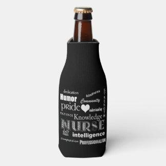 Diseño del Orgullo-Texto de la enfermera+Corazón Enfriador De Botellas