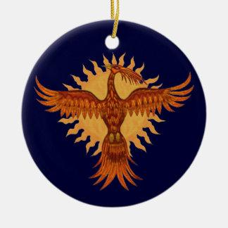 Diseño del ornamento del árbol de navidad del adorno navideño redondo de cerámica