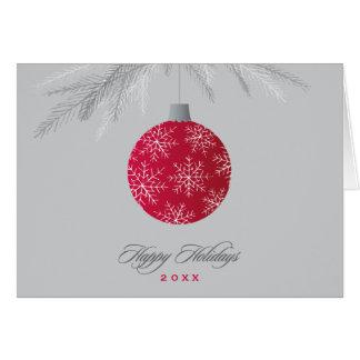 Diseño del ornamento del copo de nieve de las tarjeta de felicitación