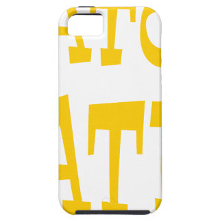Diseño del oro amarillo del enemigo del cocodrilo iPhone 5 Case-Mate funda