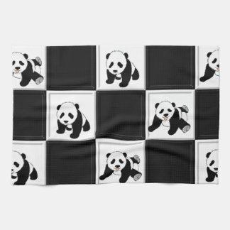 Diseño del oso de panda toallas de cocina