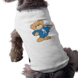diseño del oso de peluche del camarero playera sin mangas para perro