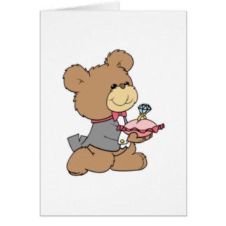 diseño del oso de peluche del portador de la ofert felicitaciones