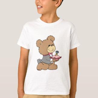 diseño del oso de peluche del portador de la playera