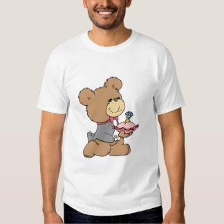 diseño del oso de peluche del portador de la playeras