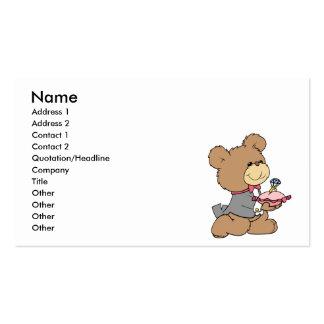 diseño del oso de peluche del portador de la tarjetas de visita
