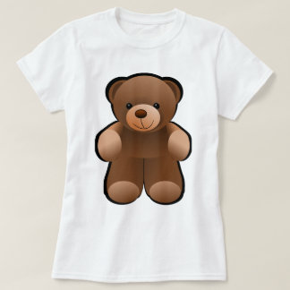Diseño del oso de peluche playera