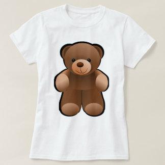 Diseño del oso de peluche remera