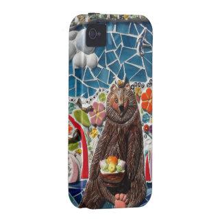Diseño del oso del mosaico del caso de IPhone 4/4s iPhone 4 Funda