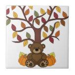 Diseño del oso del otoño de la caída azulejo cerámica