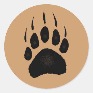 Diseño del oso para el animal y los pegatinas redondas