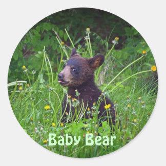 Diseño del oso para el animal y los pegatina redonda