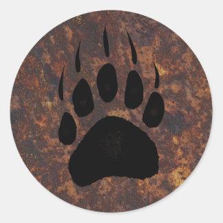 Diseño del oso para el animal y los etiquetas redondas