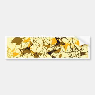 diseño del otoño etiqueta de parachoque