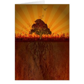 diseño del otoño tarjeta pequeña