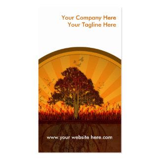 diseño del otoño tarjetas de visita