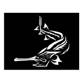 Diseño del Paddlefish y del Rostrum Postales