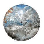 Diseño del país de las maravillas del invierno tablero dardos
