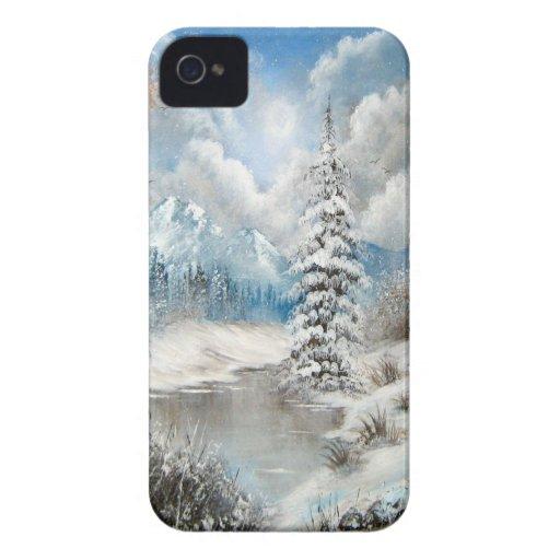 Diseño del país de las maravillas del invierno Case-Mate iPhone 4 carcasa