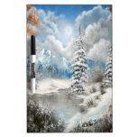 Diseño del país de las maravillas del invierno pizarras