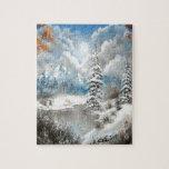 Diseño del país de las maravillas del invierno puzzle