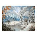 Diseño del país de las maravillas del invierno postal