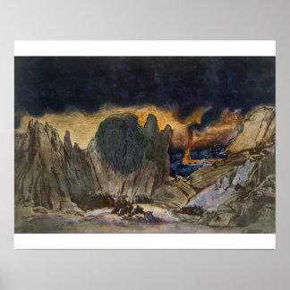 Diseño del paisaje de Phedre, 1917 (litho del colo Poster