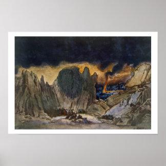 Diseño del paisaje de Phedre, 1917 (litho del colo Impresiones