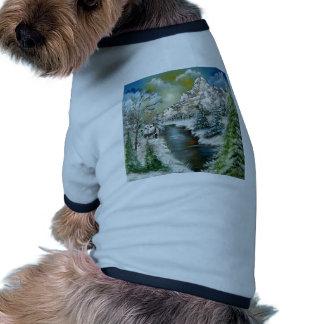 Diseño del paisaje del invierno prenda mascota