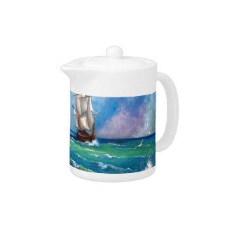 Diseño del paisaje marino del velero