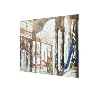 Diseño del paisaje para el bautismo, del galán dur impresión en lienzo estirada