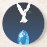 Diseño del pájaro de la libertad posavasos personalizados