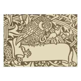 Diseño del pájaro de Nouveau del arte del búho del Tarjeta De Visita