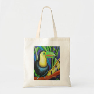 Diseño del pájaro de Toucan Bolsa Tela Barata