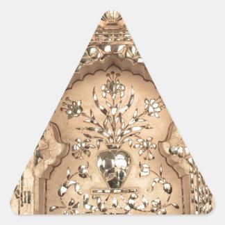 Diseño del palacio de la India Pegatina Triangular