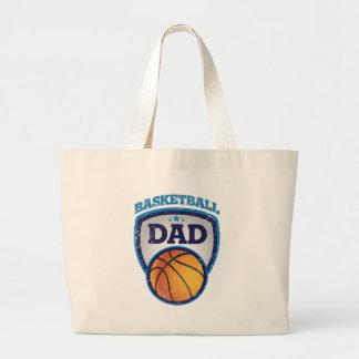 Diseño del papá del baloncesto a mostrar apagado bolsa de mano